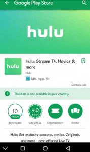 Hulu Google Play Store App