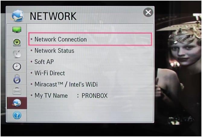 LG Smart TV Network Setting