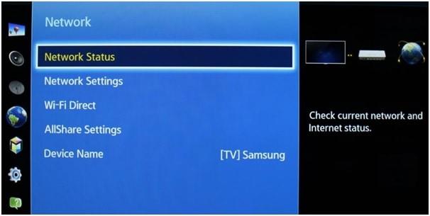 Samsung Smart TV Connecting Ethernet Network