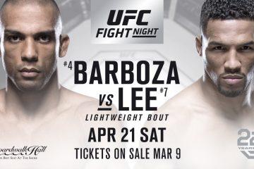 UFC Fight Night – Edson Barbosa vs Kevin Lee on Kodi