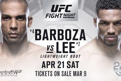 UFC Fight Night: Edson Barbosa contro Kevin Lee su Kodi