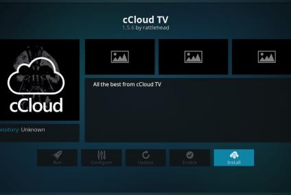 Cómo instalar cCloud Add-On en Kodi