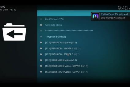 Como instalar o CellarDoor TV Build no Kodi