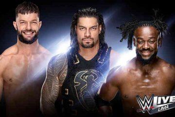 Watching WWE Live Lima