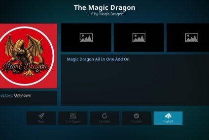 Installer l'add-on pour Kodi Magic Dragon