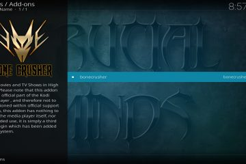 Méthode d'installation de l'add-on BoneCrusher pour Kodi