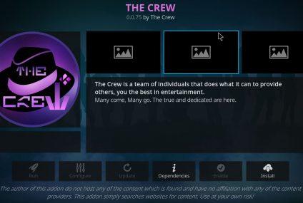 Add-on tout-en-un Kodi – The Crew