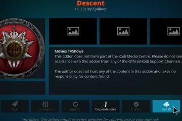 Funktionierende Methode, um das Descend Kodi-Add-On zu installieren (2020 Update)
