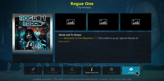 Metodi funzionanti per installare l'add-on di Kodi Rogue One nel 2021