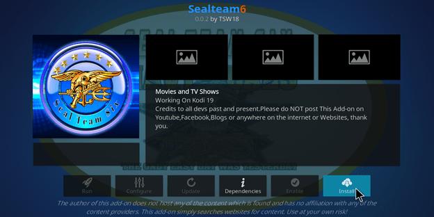 How to Install Seal Team 6 Kodi Addon?