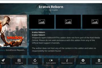 Installer l'addon pour Kodi Kratos Reborn en 2021