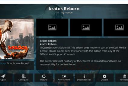 Como Instalar o Complemento Kratos Reborn no Kodi em 2021?
