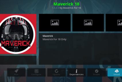 Installer l'addon Maverick 18 pour Kodi (Maverich 2021) (mise à jour d'octobre 2021)
