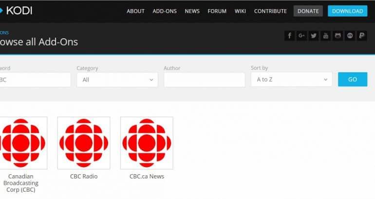 Kodi CBC