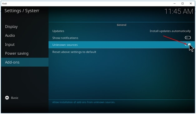 NBA Addon on Kodi Install