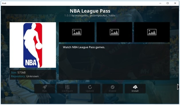 NBA Addon on Kodi