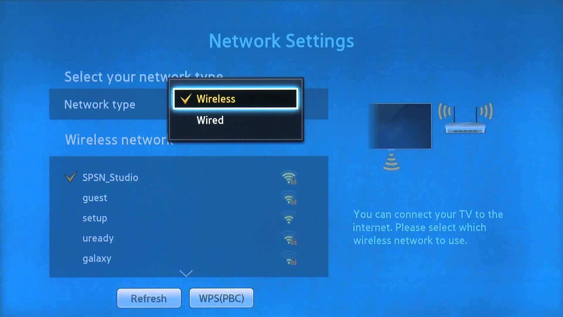 Sony Smart TV Network Setting