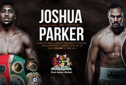 A luta do Heavyweight World Unification entre Anthony Joshua e Joseph Parker