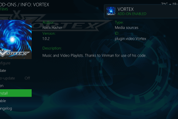 How do I install the Vortex addon on my Kodi application?