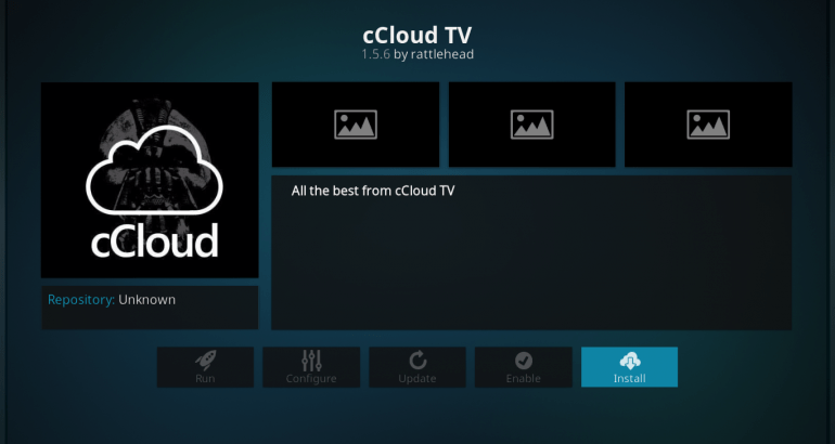 cCloud TV Info Screen