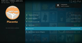 Installer l'add-on Placenta pour Kodi