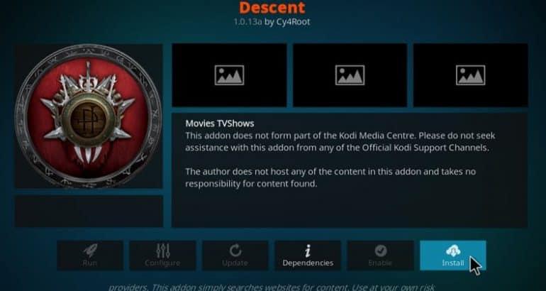 Working Method to Install Descent Kodi Addon (2020 Update)