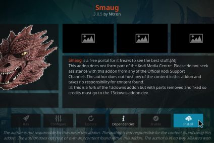 Come installare l'add-on Smaug di Kodi nel 2020?